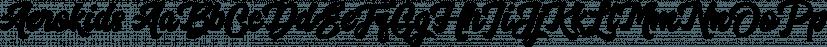 Aerokids font family by Wacaksara Co