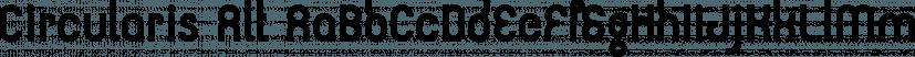 Circularis Alt font family by JAF 34