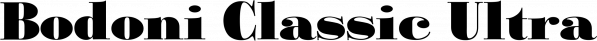 Bodoni Classic Ultra font family by Wiescher-Design