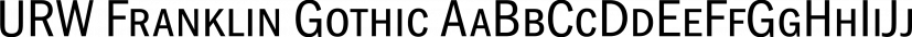 URW Franklin Gothic font family by URW Type Foundry