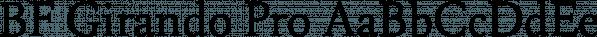 BF Girando Pro font family by BrassFonts