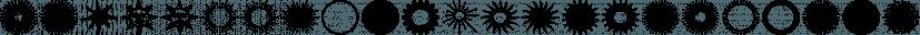 Sunbursts JNL font family by Jeff Levine Fonts