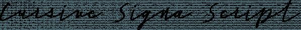 Cursive Signa Script font family by Pedro Teixeira