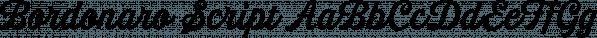 Bordonaro Script font family by Estudio Calderón