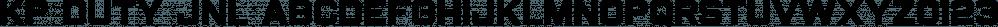 KP Duty JNL font family by Jeff Levine Fonts