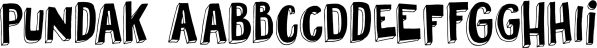 Pundak font family by Hanoded
