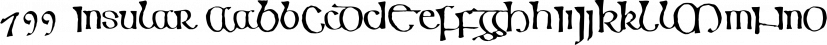 799 Insular font family by GLC Foundry