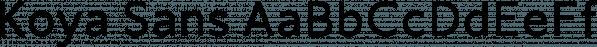 Koya Sans font family by JAM Type