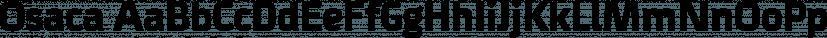 Osaca font family by Rosario Nocera