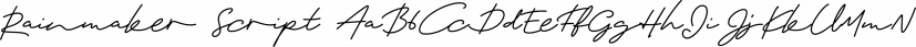 Rainmaker Script font family by Fenotype