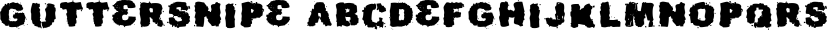 Guttersnipe font family by Australian Type Foundry