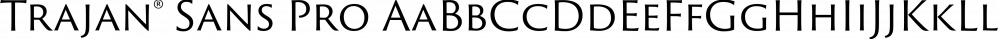Trajan® Sans Pro font family by Adobe