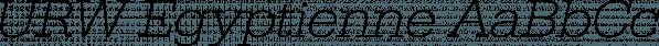 URW Egyptienne font family by URW Type Foundry