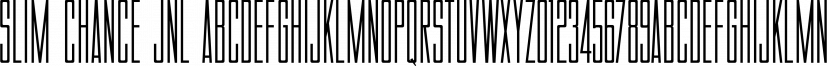 Slim Chance JNL font family by Jeff Levine Fonts