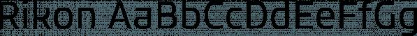 Rikon font family by JCfonts