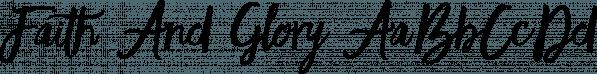 Faith And Glory font family by Set Sail Studios