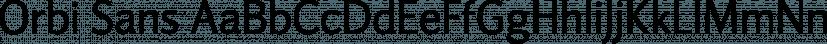 Orbi Sans font family by ParaType