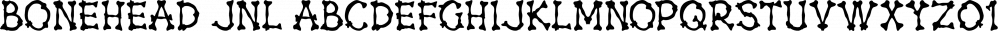 Bonehead JNL font family by Jeff Levine Fonts