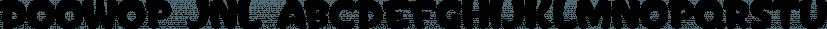Doowop JNL font family by Jeff Levine Fonts