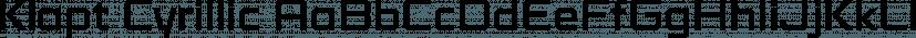 Klapt Cyrillic font family by SevenType