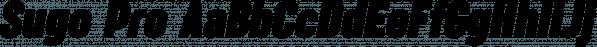 Sugo Pro font family by Zetafonts