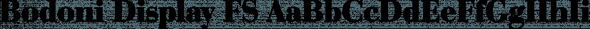 Bodoni Display FS font family by FontSite Inc.