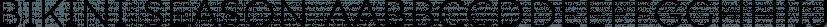 Bikini Season font family by Los Andes Type