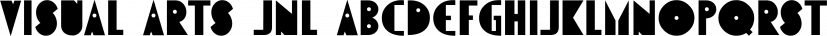 Visual Arts JNL font family by Jeff Levine Fonts