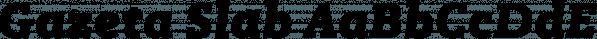 Gazeta Slab font family by Vanarchiv