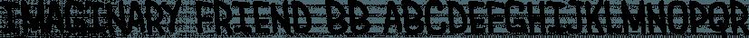 Imaginary Friend BB font family by Blambot