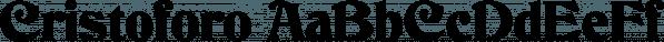 Cristoforo font family by SoftMaker