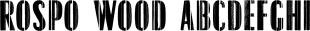 Rospo Wood font family mini