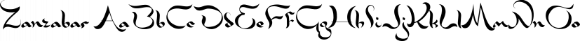 Zanzabar font family by Sharkshock