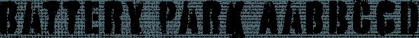 Battery Park font family by Device