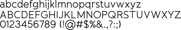 Banda Font Specimen