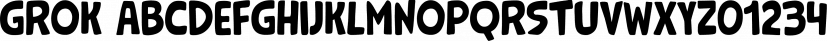 Grok font family by PintassilgoPrints