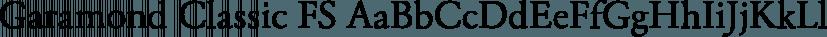 Garamond Classic FS font family by FontSite Inc.