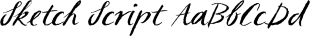 Sketch Script font family mini