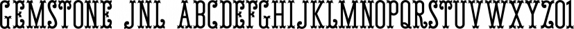 Gemstone JNL font family by Jeff Levine Fonts