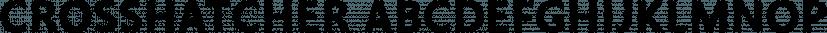 Crosshatcher font family by Sharkshock