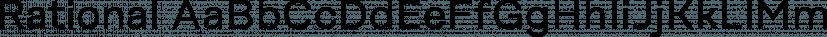 Rational font family by René Bieder