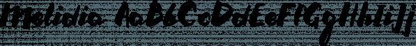 Melidia font family by Konstantina Louka
