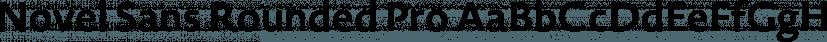 Novel Sans Rounded Pro font family by Atlas Font Foundry