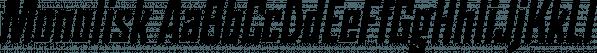 Monolisk font family by Studio Buchanan