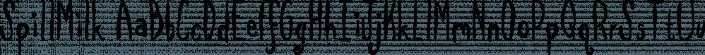 SpillMilk font family by Fonthead Design