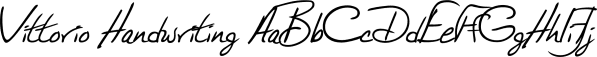 Vittorio Handwriting font family by SoftMaker