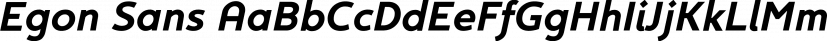 Egon Sans font family by TipografiaRamis
