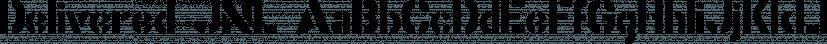 Delivered JNL font family by Jeff Levine Fonts
