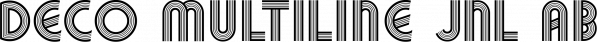 Deco Multiline JNL font family by Jeff Levine Fonts