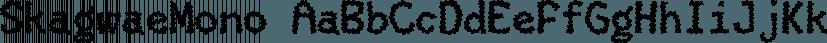 SkagwaeMono font family by Ingrimayne Type